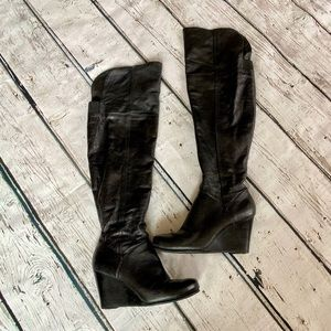 Chinese Laundry over the knee wedge boot